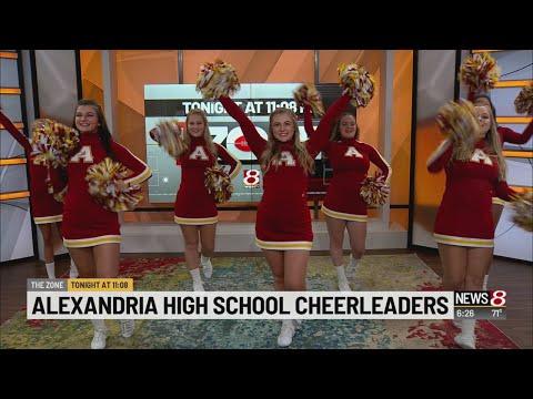 Alexandria High School cheerleaders perform on Daybreak