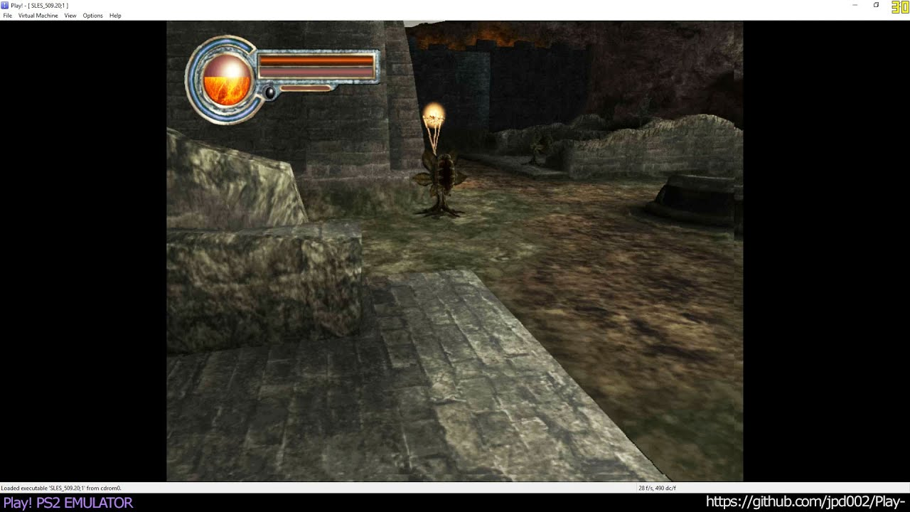 Play! PS2 Emulator - King's Field IV: The Ancient City Ingame (20160508)