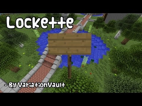 Minecraft Bukkit Plugin Lockette Lock Door Chest
