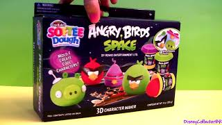 Softee Dough Angry Birds Space 3d Character Maker Playset Lazer Bird, Super Red Bird Space Pig