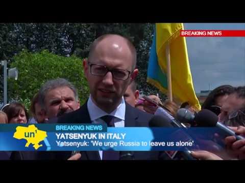 'We urge Russia to leave us alone': Ukrainian PM Yatsenyuk calls on Kremlin to end invasion threat