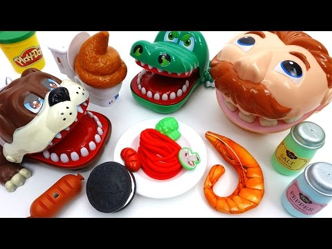 Thumbnail: Doctor Drill 'N Fill Feed Your Hungry Pets~! Bulldog Crocodile Eat & Poop