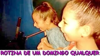 ROTINA DE UM DOMINGO QUALQUER ( MONTANHA-RUSSA , PATINS , ETC )
