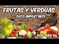 COMO APORTAR DE FORMA CORRECTA FRUTA Y VERDURA
