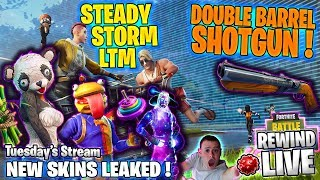 NEUE SKINS ! STETIGER STURM ! DOPPEL-SCHROTFLINTE ! PATCH 5.2 🎧 GIVEAWAY - Fortnite Battle Royale 🔴 Live RW