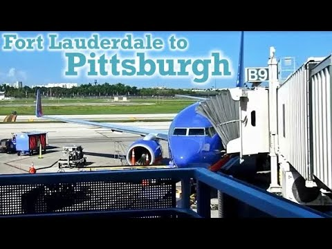 Full Flight: Southwest Airlines B737-700 Fort Lauderdale to Pittsburgh (FLL-PIT)