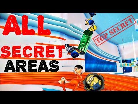 Minion Rush All SECRET AREAS Gameplay HD