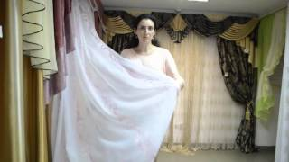 Нежная белая тюль с розовым узором(Белый шифон с вертикальным розовым узором. Купить белую тюль можно на сайте - http://salon-gardin.com.ua/ или позвонив..., 2015-10-27T10:28:58.000Z)