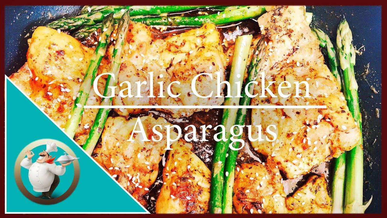 How To Make Garlic Chicken Asparagus  One Pan Chicken Recipe  Chicken  Stirfry