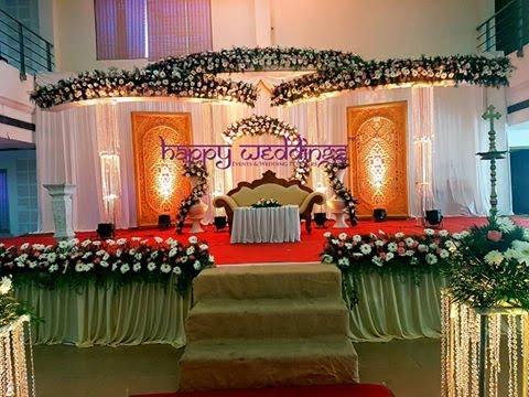 Christian Wedding Decoration In Trivandrum Wedding Stage