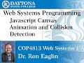 Web Programming - Javascript -  Animation and Collision Detection