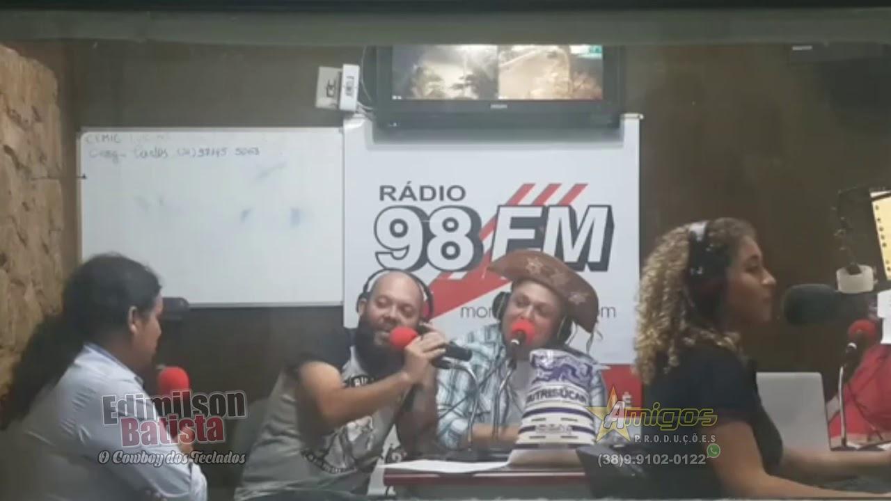 Edimilson Batista Entrevista na Radio 98 FM Montes Claro 06/08 Bloco 22  QUANTOS SHOWS NO ANO