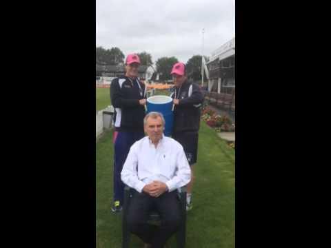 Middlesex's Chairman Ian Lovett takes on the ALS Ice Bucket Challenge