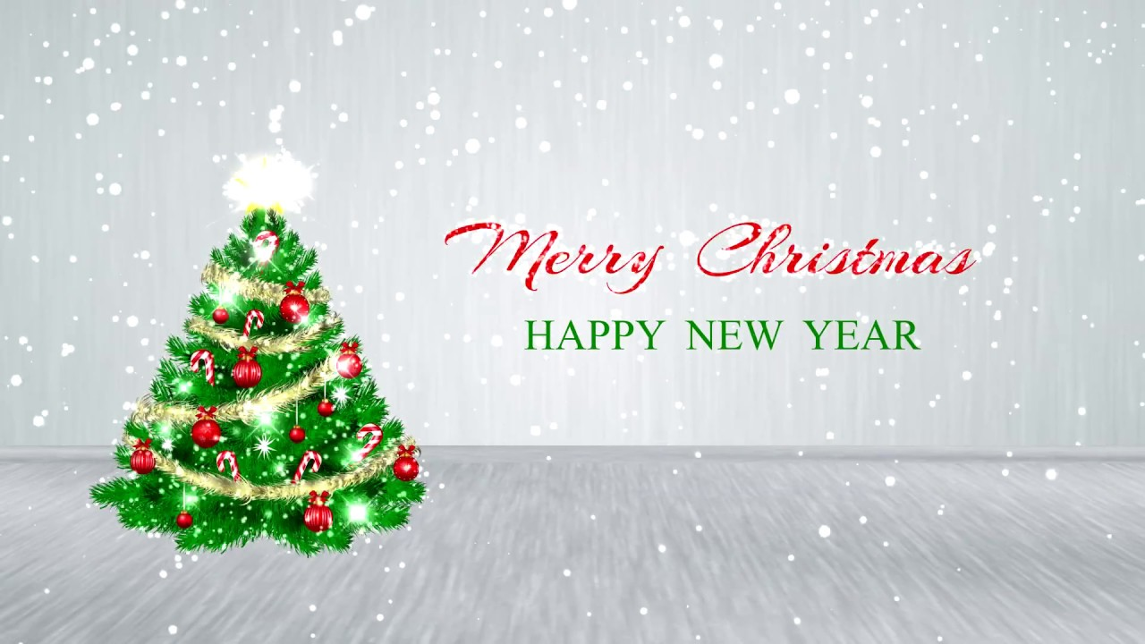 Merry Christmas - Happy New Year 2019 - Motion Background Free HD ...