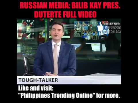 Bumilib ang mga Russian media kay President Rodrigo Duterte