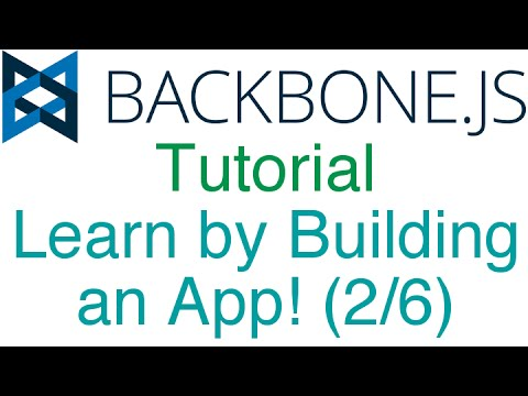 learn backbone js tutorial by building an app 2 6 views and