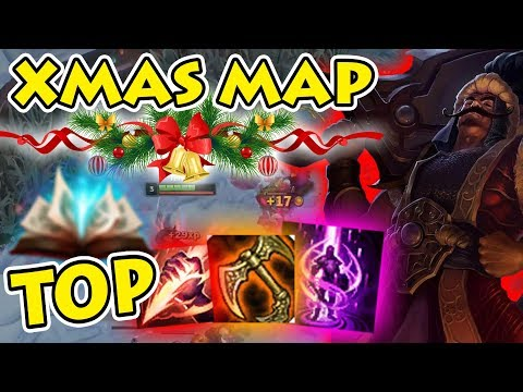 MASSIVELY TILT ENEMY JUNGLER With SMITE TOP Tryndamere Ft. Christmas Map [Patch 7.24]