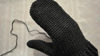 Knit mitten - Part 1 - Вяжем варежку крючком - Часть 1