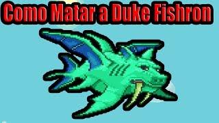 Como matar a Duke fishron   Guia terraria hard mode ep 21