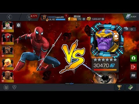 Rank 5 Spidey vs 6* Thanos Boss! Tom and Chadwick Challenge - MCOC