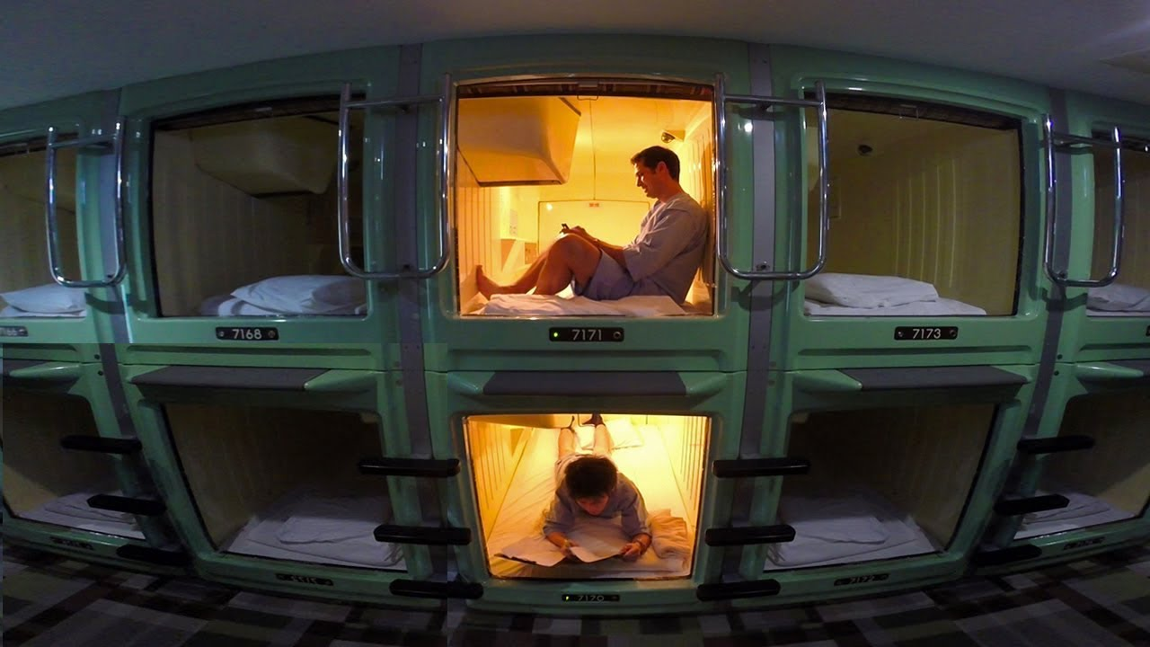Tokyo Capsule Hotel Experience  ONLY in JAPAN  YouTube