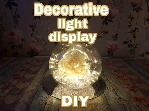 DIY Decorative light up table decoration   Using Home Bargains & Poundland Items