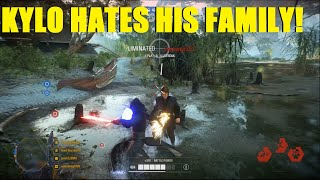Star Wars Battlefront 2 - Kylo Kills his Grandpa then his Dad! Kylo PTFOing Killstreak!