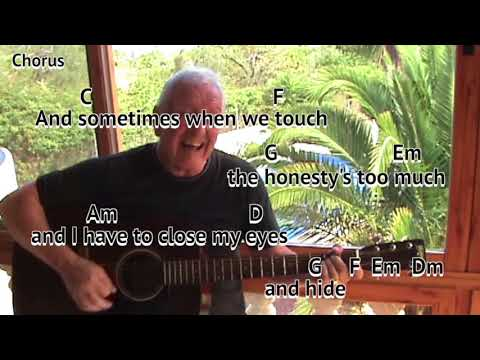 Sometimes When We Touch - Dan Hill cover - easy chord guitar lesson with on-screen chords and lyrics