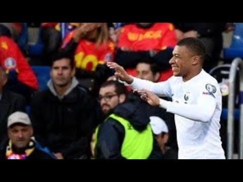But de Mbappe (0-1) | France - Andorre Euro 2020 11/06/2019