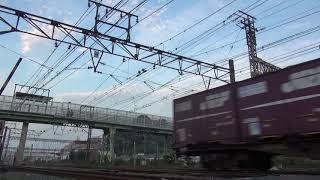 貨物列車 2060レ EF66-27 2019/09/01 花月園前踏切