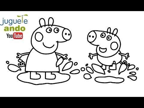 Descargar dibujos para pintar y colorear para niños de Peppa Pig y ...
