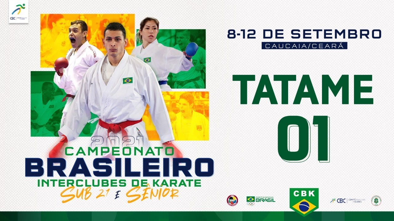 Download TATAME 1 - 1/4 Campeonato Brasileiro Interclubes de Karate Sub -21 e Sênior