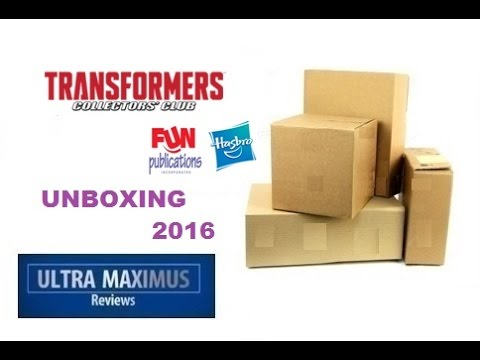 Unboxing Transformers Collectors Club 2016