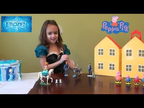 Peppa Pig: Peppa Pig in Elsa's Castle Story with Disney Frozen Castle and Anna and Elsa Toys