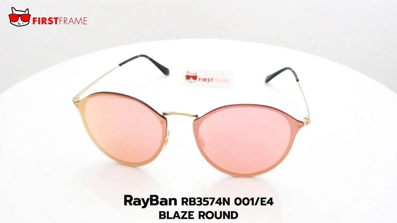 RayBan RB3574N 001 E4 BLAZE ROUND - YouTube 992815fd0c