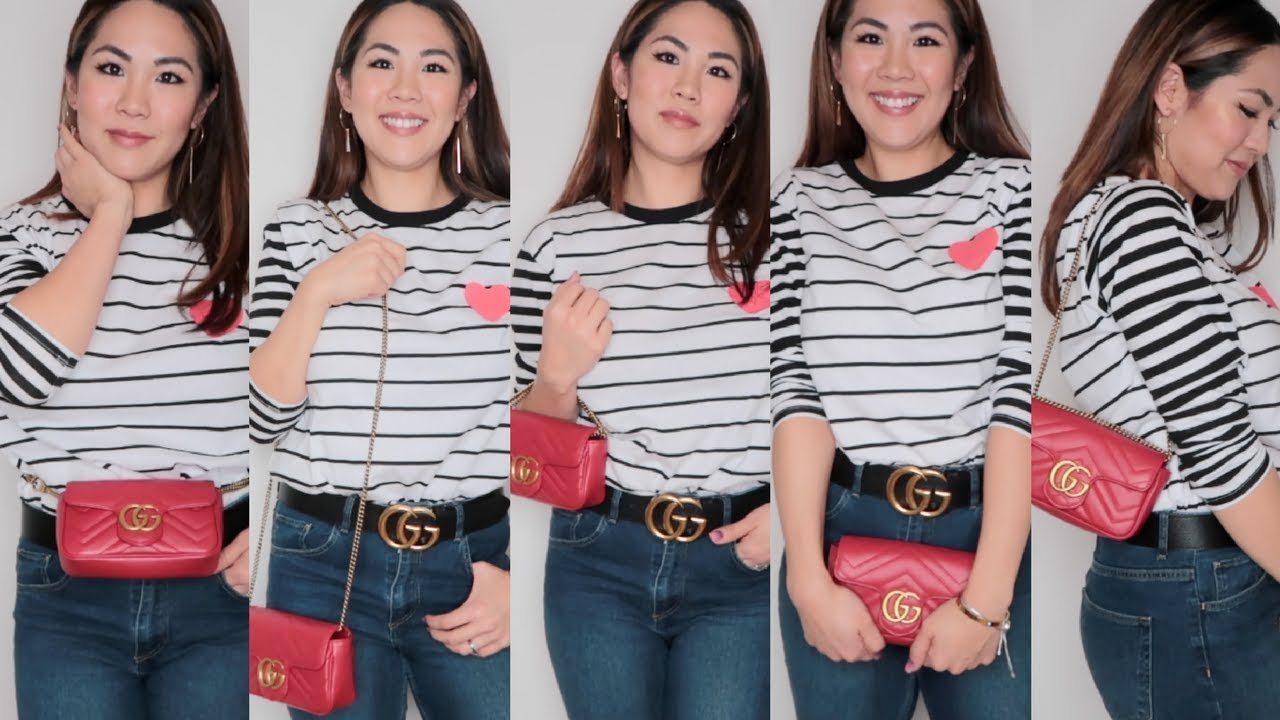 e98ab3cd How To Wear the GUCCI Super Mini 6 Ways! - YouTube