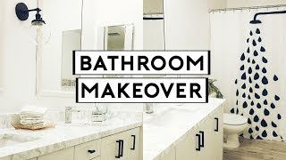 DIY BATHROOM MAKEOVER! CHEAP & EASY TRANSFORMATION