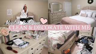 CLEAN AND DECORATE WITH ME 2018 | Master Bedroom Speed Cleaning | Cleaning Motivation