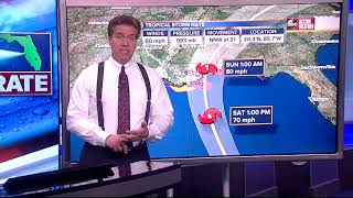 Tropical Storm Nate Forecast with Denis Phillips on Friday, October 6, 2017 (6:30PM)