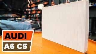 Kuinka vaihtaa raitisilmasuodatin AUDI A6 C5 -merkkiseen autoon OHJEVIDEO | AUTODOC