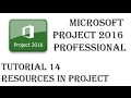 Work Resources Cost Resources Material Resources in Microsft Project - Tutorial 14