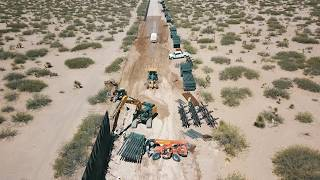 new border wall.santa teresa new mexico,by drone