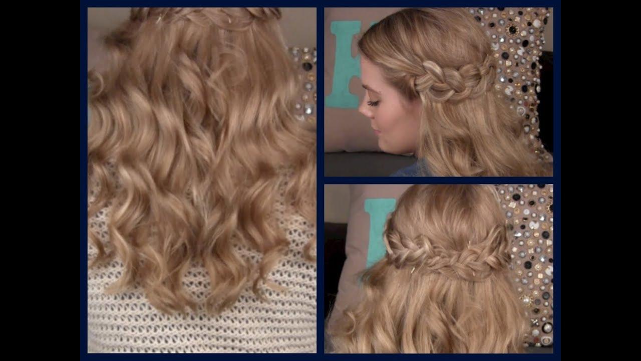 Hair Tutorial Boho Braids Amp Loose Curls Youtube
