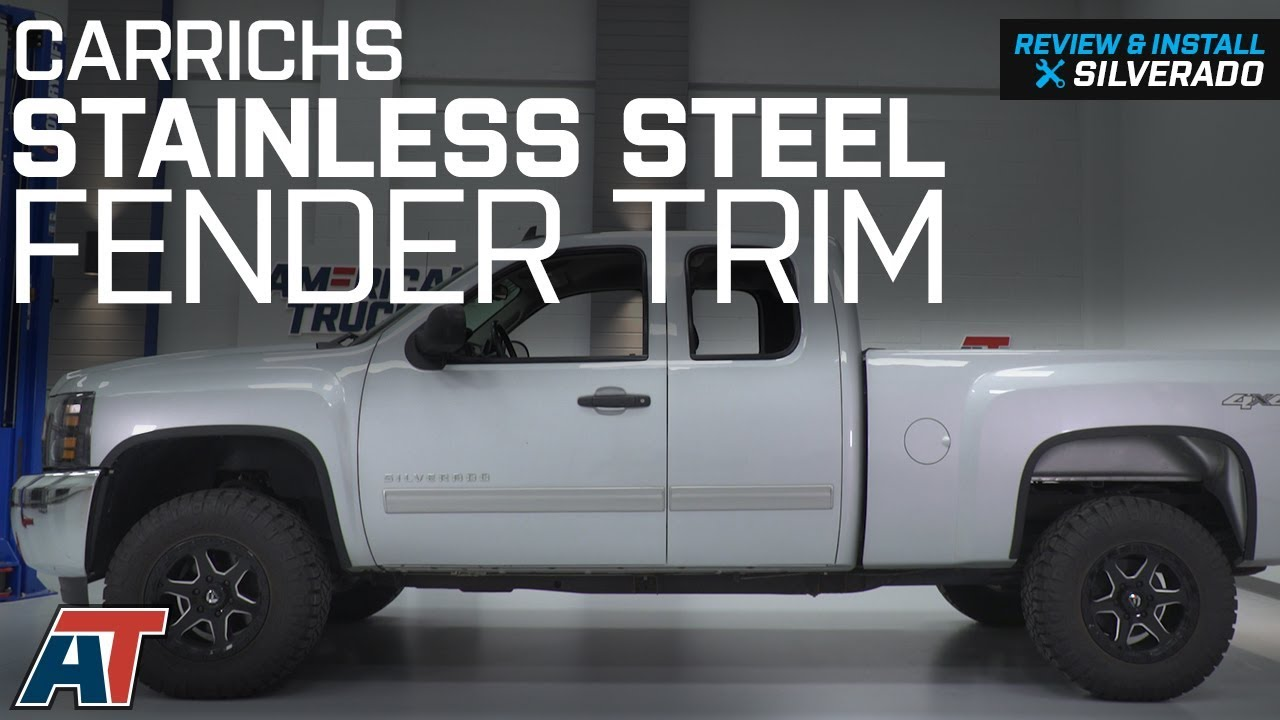 2007-2013 Silverado 1500 Carrichs Matte Black Stainless Steel Fender Trim Review & Install - YouTube