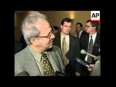 UN: ARAB LEAGUE OF NATIONS DISCUSS ISRAELI-PALESTINIAN LEADERS MEETING
