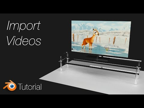 [2.8] Blender Tutorial: Import Videos with Sound (Free TV Download) thumbnail