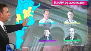 Elecciones 2015: el mapa de la votación - Telefe Noticias