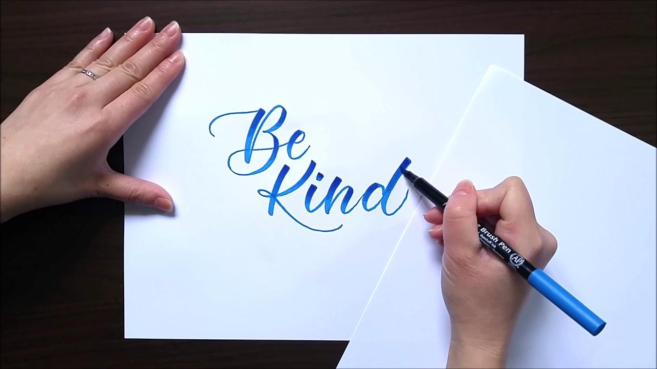 brush lettering for beginners blending brush pens youtube
