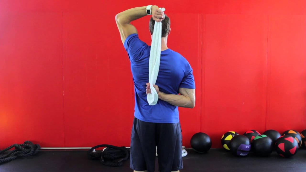 Image result for towel stretch shoulders