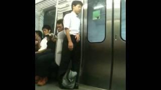 Tired Japanese boy